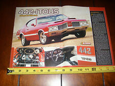 1970 OLDSMOBILE 442 W-30 OLDS   - ORIGINAL 2003 ARTICLE