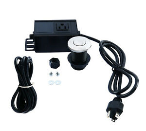 Sink Top Garbage Disposal Air Switch Kit Single Outlet Stainless Steel Button