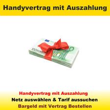 Handyvertrag mit Auszahlung statt Handy, Vertrag mit Zugabe Bargeld Geld Bundle