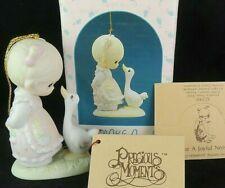 Precious Moments 1989 Make A Joyful Noise Porcelain Bisque Ornament 522910