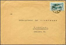 GF417. GERMANY PLEBISCITE OBERSCHLESIEN UPPER SILESIA COVER FROM RATIBOR 1921