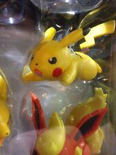 New From Tomy Pokemon Figure 5 Pack Pikachu Eevee Flareon Jolteon Vaporeon NIB