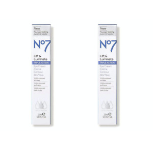 2 Pack No7 Lift & Luminate Triple Action Eye Cream 0.5 oz Each