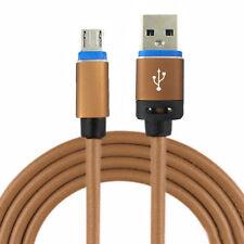 Micro USB 2.0 Kabel - Leder Ladekabel Pc LG L65 Aldi Nord Cabel - 1 Meter Beige