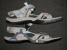 MERRELL AZURA STRAP BLUE GRAY HIKING SANDALS SHOES WOMENS SIZE 8 39