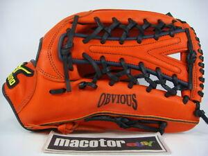 "New Mizuno Obvious 13"" Outfield Baseball / Softball Glove Orange Black RHT Gift"