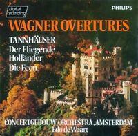 EDO/CGO DE WAART - WAGNER: OUVERTÜREN  CD NEU WAGNER,RICHARD