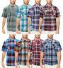 Men's  Western Button Down Short Sleeve Casual Plaid Pattern Cowboy Dress Shirt