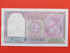 BRITISH INDIA ( 1937 MINT GEM ) 2 RUPEES 1st ISSUE VERY RARE BANK NOTE,MINT UNC