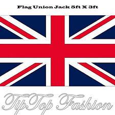 GRANDE 5ft x 3ft PANNO BRITANNICO UNION JACK 12.7cmX7.6cm BANDIERA In