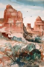 """SEDONA""  original watercolor by American artist Micheal Jones"