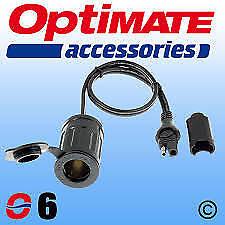 Optimate / Accumate SAE76 (6) 12V Genuine SAE Cigarette Lighter Socket Lead O6