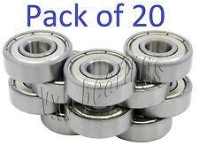 Wholesale Lot 608-ZZ Ball Bearing Dual Sided Metal Shielded Deep Groove (20PCS)
