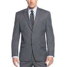 $400 Michael Kors Men's Wool Grey Mini-Striped 38R Modern Fit Suit Jacket Blazer