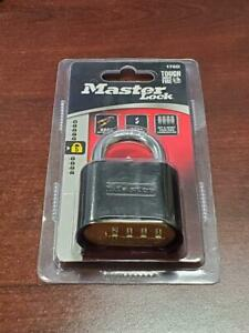 1x Master Lock 178D Set Your Own Combination Padlock Black Weather Resistant NEW