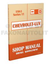 1981 Chevy Luv Diesel Engine Shop Manual Isuzu Pickup Repair Service 2.2 Liter