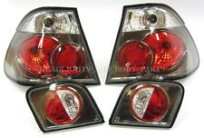 Rear Smoked Tail Light Set Right Left Side Pair Lamps Fits BMW 3 E46 98- 4door