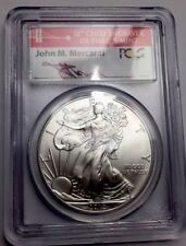 2012 (S) Silver Eagle Coin MS-70 PCGS - First Strike Hand Signed Mercanti Bridge