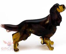Art Blown Glass Figurine of the Gordon Setter dog