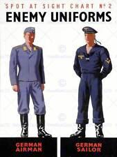 GUERRA di propaganda WWII Alleati nemico uniforme tedesca AirMan Sailor posterbb 7153b