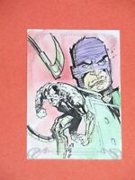 2018 MARVEL MASTERPIECES SCORPION 1 of 1 SKETCH CARD! WRECKER! GEOFFREY GWIN!