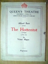 Queen's Theatre Programme 1926- Lynne Overman in THE HOTTENTOT by Victor Mapes