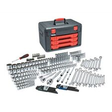 """239 Piece SAE/Metric Mechanic's Tool Set With 3 Drawer Case, 1/4"""", 3/8"""", and 1"""
