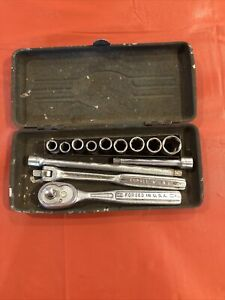 Vintage Craftsman Forged in USA - v Series Ratchet Kit 1/4 Inch W/Box