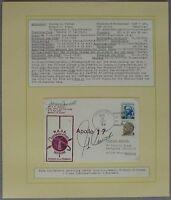 s1197 Raumfahrt Space Apollo 17 Tracking Hawaii 6.12.72  Autograph Eugene Cernan