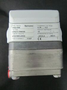 Barksdale P/N 0402-066 Type DPD1T-M80SS Diaphragm Differential Pressure Switch