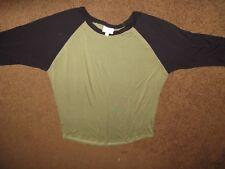 women's LULAROE top--size LARGE--Randi style--Green/black--3/4 sleeves--EUC