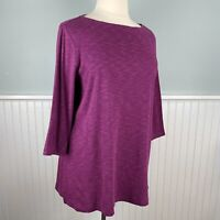Size 2X Karen Scott Purple 3/4 Sleeve Tunic Top Blouse Shirt Pullover Plus NWT