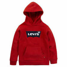 Levi's Youth Boys Logo Sweater Pullover Hoodie Red, Large 10/12