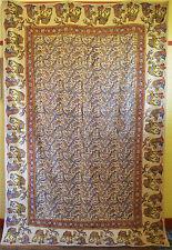 Old Large Persian Hand Woven Woodblock Printed Wool Textile Isfahan Qalamkar