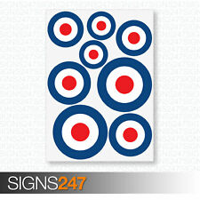 RAF Stickers - MOD Target Roundel - Scooter Vinyl Decal Stickers Cars Vans