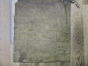 MONGOLIAN BUDDHIST ANTIQUE AMULET WOODBLOCK PRINT ON COTTON 33 x 37