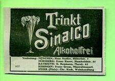 Sinalco--Trinkt Sinalco--Alkoholfrei--Werbung von 1914-