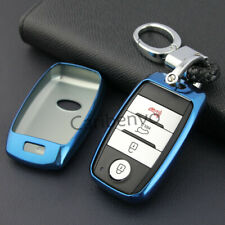 Car Key Fob Keychain Blue Trim For Kia Sportage Optima Sorento Soul Niro Sedona