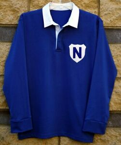 NEWTOWN JETS BLUEBAGS JACK TROY RUGBY LEAGUE JERSEY VINTAGE RETRO