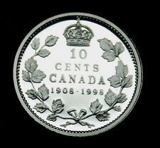 1908-1998 Canada silver proof 10¢ coin taken from the silver proof set