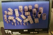 Verlinden Productions 1/48 Military Supplies WWII Jerrycans, Drums, Crates 2215