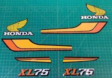 1978 78' honda XL75 8pc Decals Kit vintage Graphic Sticker XL 75 moto bike