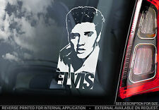 Elvis Presley - Car Window Sticker - The King Rock'n'Roll Music Sign Decal - V05