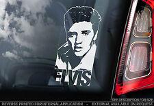 Elvis Presley - Car Window Sticker - The King Rock'n'Roll Music Sign Decal - V05