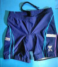 Tyr Shorts Triathlon Women's Medium Blue multi panel design