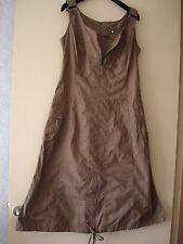Robe neuve Derhy Casual en coton marron clair - Taille 38/40