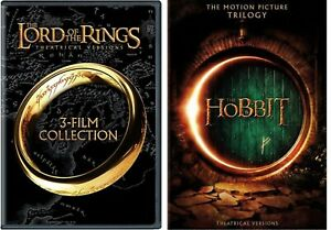 The Lord Of the Rings Trilogy & The Hobbit Trilogy (9 DVD SET, WS) NEW