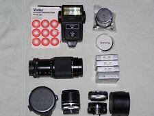 35 mm zoom lens Auto flash Tele converters Filters Accessories