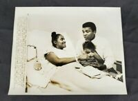 VTG Wire Press Photo Muhammad Ali Heavyweight Champ Wife Belinda Giving Birth