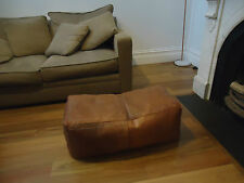 Large Moroccan Leather Ottoman Pouffe Pouf Footstool Coffee Table Tan